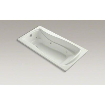 "Kohler Mariposa 72"" x 36"" Drop-in Whirlpool Tub with Custom Pump Location"
