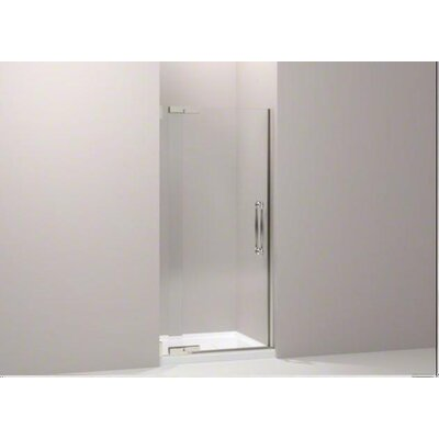 "Kohler Finial Frameless Pivot Shower Door with 0.38"" Thick Crystal Clear Glass, 45.25"" - 47.75"" X 72.25"""