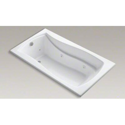 "Kohler Mariposa 66"" X 36"" Drop-In Whirlpool Bath with Reversible Drain and Custom Pump Location"