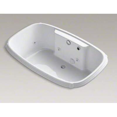 "Kohler Portrait Collection 67"" Drop In Jetted Whirlpool Bath Tub with Center Drain and Left Back Pump"