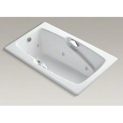 "Kohler Steeping Collection 60"" Drop In Jetted Whirlpool Bath Tub with Left Side Drain with Right Front Pump Placement"