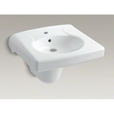 Brenham Wall-Mount Lavatory and Shroud with Single-Hole Drilling, Less Soap Dispenser Hole - 1999-1