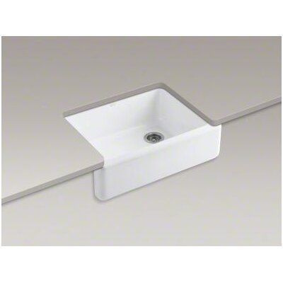 "Kohler Whitehaven Self-Trimming 29-11/16"" X 21-9/16"" X 9-5/8"" Single-Bowl Kitchen Sink with Tall Apron"