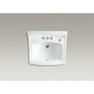 "Kohler Greenwich 20-3/4"" X 18-1/4"" Wall-Mount/Concealed Arm Carrier Bathroom Sink with 4"" Centers and Right-Hand Soap Dispenser Hole"