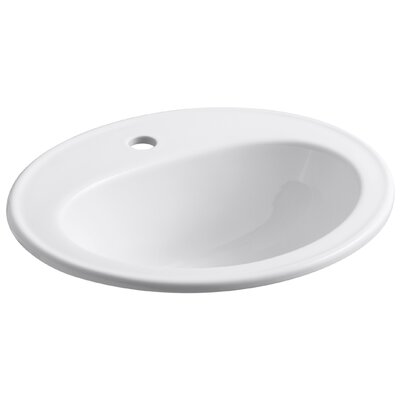 Pennington Self-Rimming Lavatory with Single-Hole Drilling and Sealed Overflow - 2196-1N