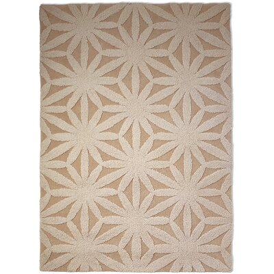 Hand Tufted Flower Ivory Rug