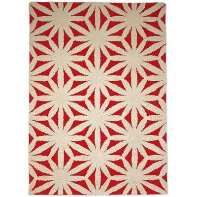 Gandia Blasco Hand Tufted Flower Red Rug