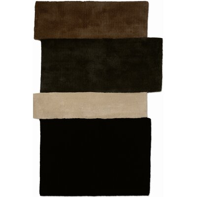 Gandia Blasco Hand Tufted Sliding Dark Brown Rug