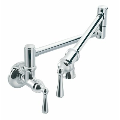 Moen Two Handle Wall Mounted Pot Filler Faucet