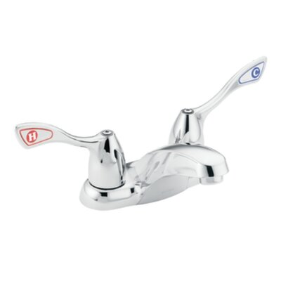 Moen M-Bition Centerset Bathroom Faucet with Cold and Hot Handles