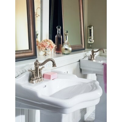Moen Vestige Two Handle Centerset High Arc Bathroom Faucet in Chrome