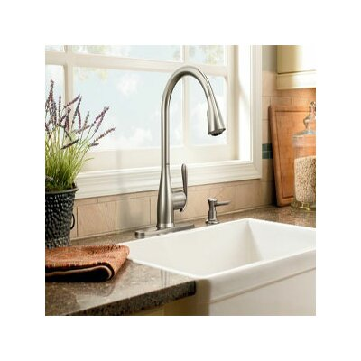 Moen Haysfield One Handle High Arc Kitchen Faucet