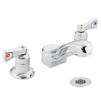 Moen M-Dura Double Handle Widespread Bathroom Faucet with Grid