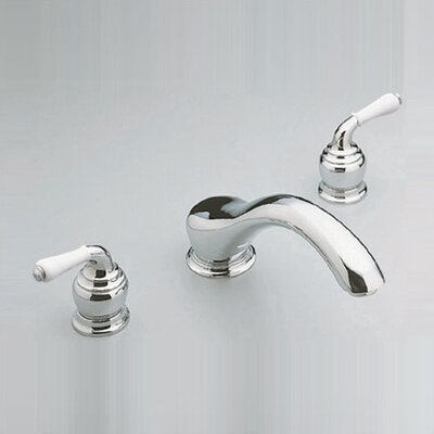 Moen Monticello Inspirations Roman Tub Shower Faucet Trim with Stainless Steel Handles