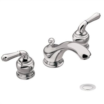 Moen Monticello Inspirations Widespread Bathroom Faucet with Double Lever Handles