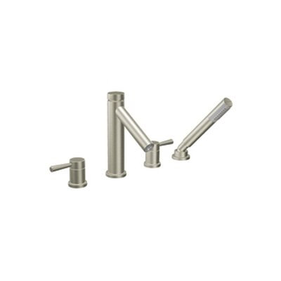 Moen Level Double Handle Roman Tub Faucet with Hand Shower Diverter