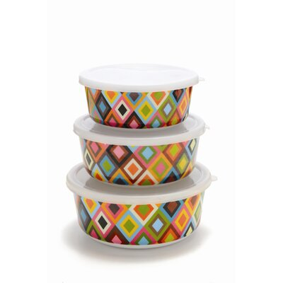 French Bull Mosaic Storage Container Set