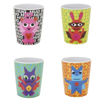 French Bull Superhero Kids Juice Cups (Set of 4)
