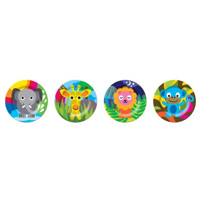 French Bull Jungle Kids Round Plates (Set of 4)