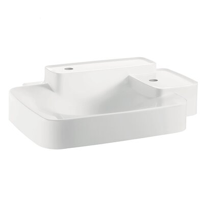 Hansgrohe Axor Bouroullec Small Wall Mounted Bathroom Sink with Two Shelves