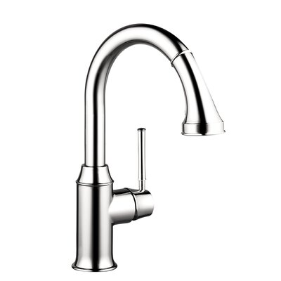 Talis C HG Single Handle Single Hole Bar Kitchen Faucet with Pull Down 2 Spray ...