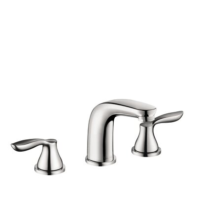 Hansgrohe Solaris E Widespread Bathroom Faucet with Double Lever Handles