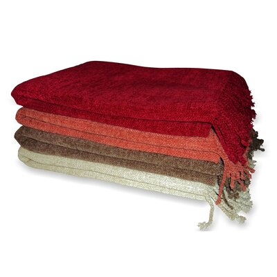 Jovi Home Grace Chenille Viscose Throw