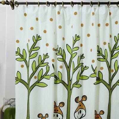Jovi Home Giraffe Cotton Shower Curtain
