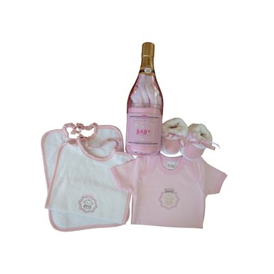 Baby Champagne Bottle of Gifts Four Piece Set