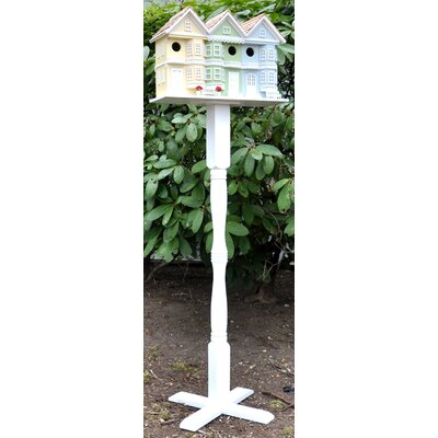 Home Bazaar Pedestal Victorian Novelty Birdhouse Column with Auger