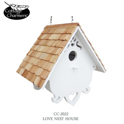 Cottage Charmer Series Love Nest Hanging Birdhouse