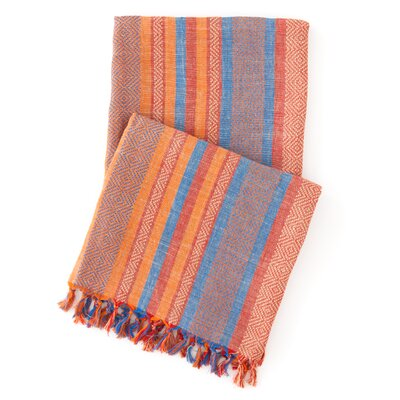 Pine Cone Hill Spice Root Linen Throw
