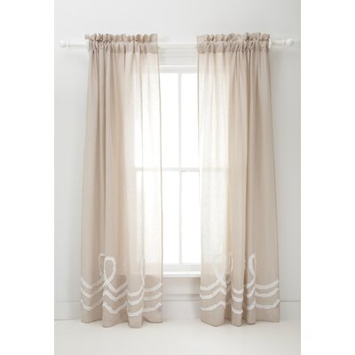Pine Cone Hill Ruched Linen Curtain Single Panel