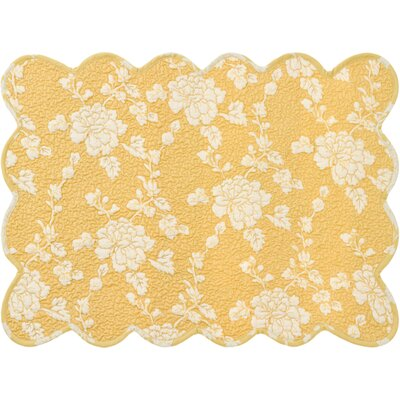 Pine Cone Hill Madeline Quilted Placemats in Gold (Set of 4)