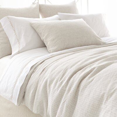 Pine Cone Hill Parchment Linen Checkerboard Duvet Cover Collection