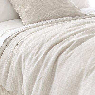 Parchment Linen Checkerboard Duvet Cover Collection