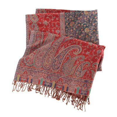 Pine Cone Hill Vanhi Paisley Wool Throw