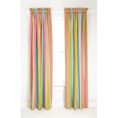 Pine Cone Hill Cabana Stripe Cotton Rod Pocket Curtain Single Panel