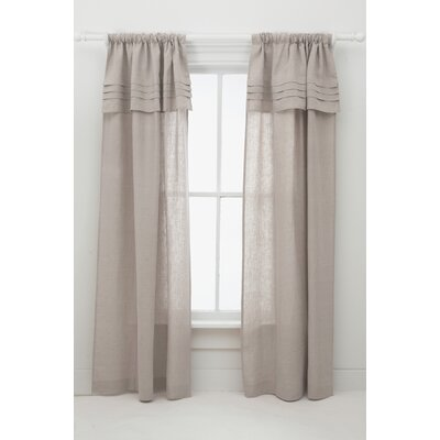 Pine Cone Hill Pleated Linen Curtain Single Panel