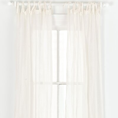 Pine Cone Hill Savannah Linen Gauze Tab Top Curtain Single Panel