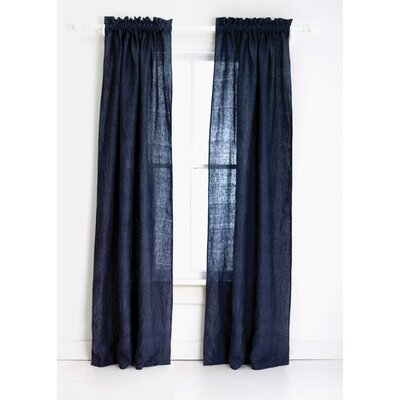 Pine Cone Hill Chambray Linen Curtain Single Panel