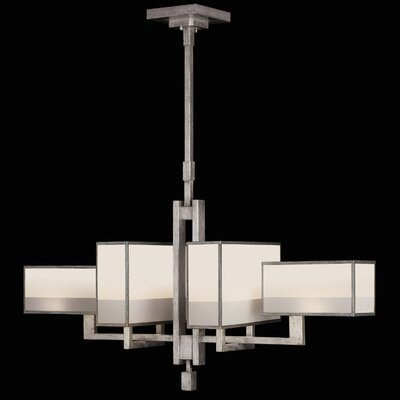 Fine Art Lamps Perspectives Silver 6 Light Chandelier