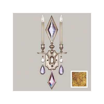 Fine Art Lamps Encased Gems Two Light Wall Sconce in Variegated Gold Leaf