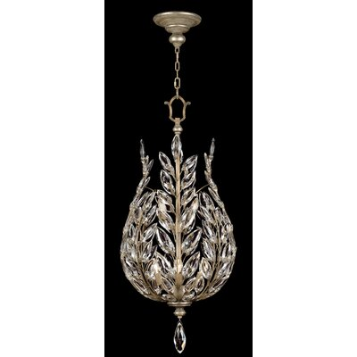 Fine Art Lamps Crystal Laurel 6 Light Foyer Pendant