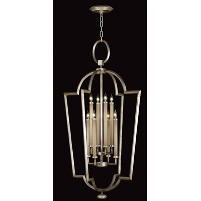 Fine Art Lamps Allegretto Silver 8 Light Foyer Pendant