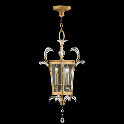 Beveled Arcs Gold 3 Light Foyer Pendant