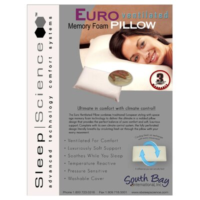South Bay International Advanced Sleep Technologies Ventilated Pillow