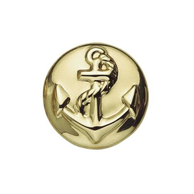 "Bosetti-Marella Anchor 1.18"" Round Knob in Polished Brass"