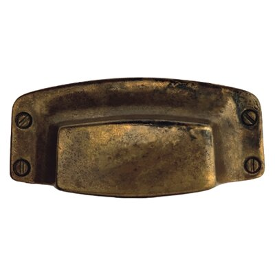 "Bosetti-Marella 3.5"" Bin Pull in Distressed Antique Brass"