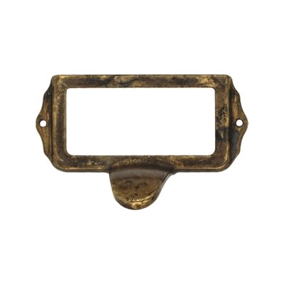 Bosetti-Marella Bin Pull Card Holder in Distressed Antique Brass